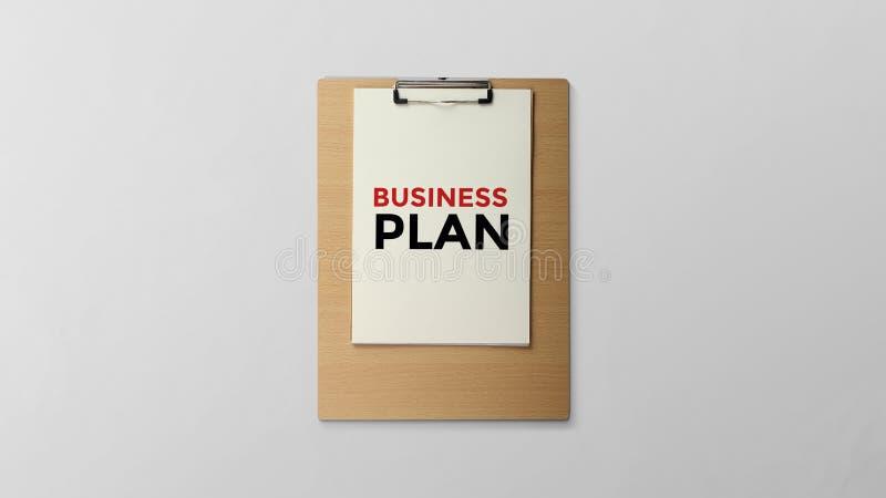 Business plan written on clipboard royalty free illustration