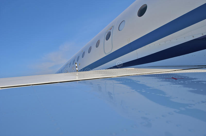 Business plane. Parked at the airport royalty free stock photography