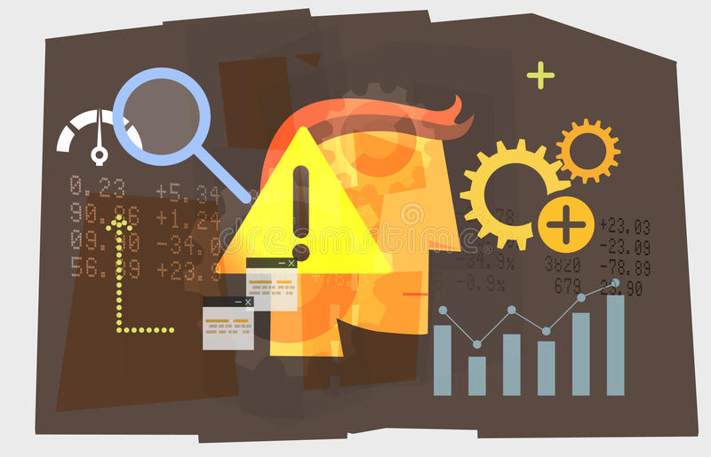 Business Planning - Cautious Approach. Illustration as EPS 10 File vector illustration