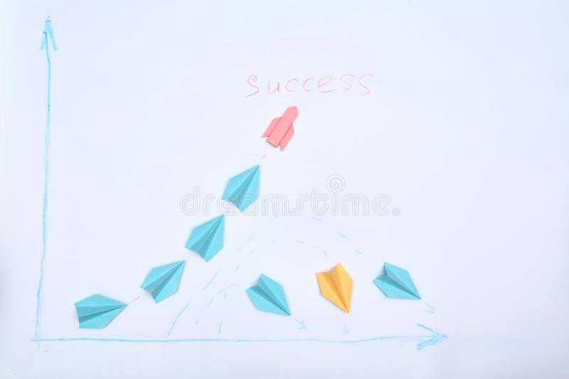 Business planning. Strategy. Challenge, improvment and progress concept. The leader finds the right strategy.  stock images
