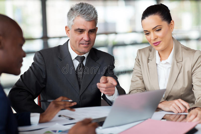 Business planning work stock image