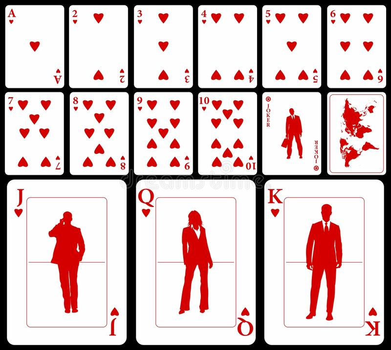 Business Playing Cards - Hearts Stock Images