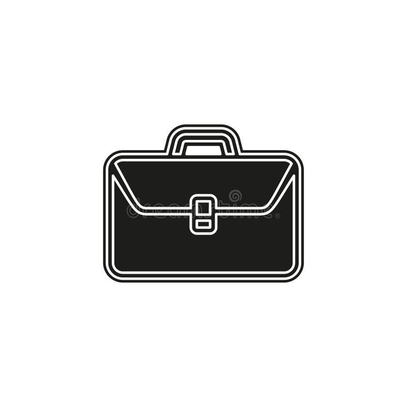 business portfolio illustration, office suitcase - Briefcase icon stock illustration