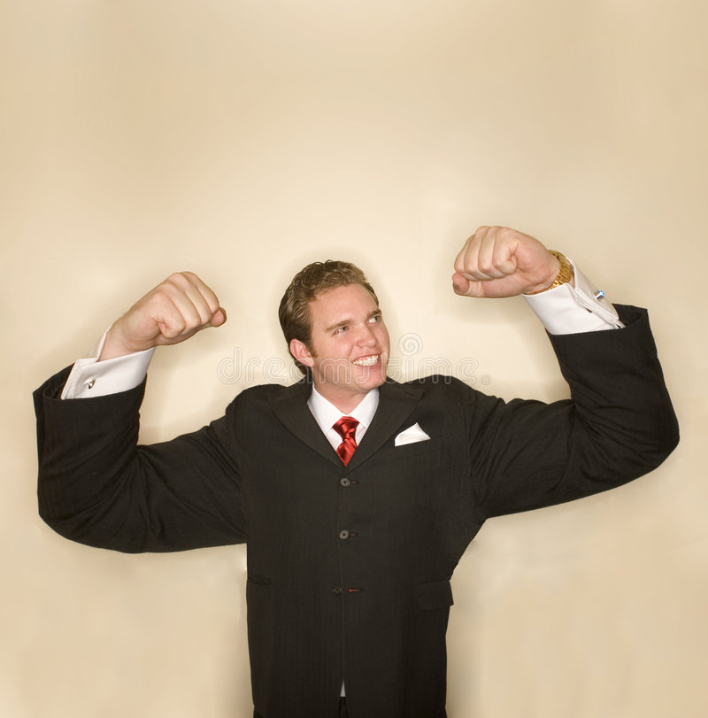 Business power pose 3 royalty free stock image