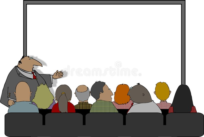 Business Presentation vector illustration