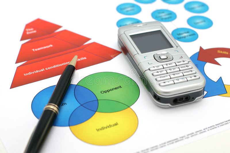 Download Business presentation stock image. Image of blue, mobile - 2149709