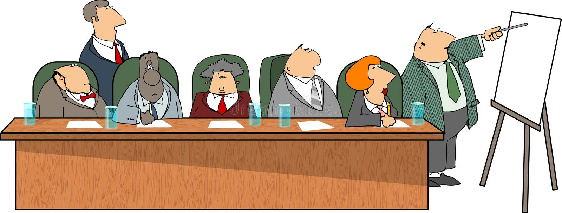 Business presentation royalty free illustration
