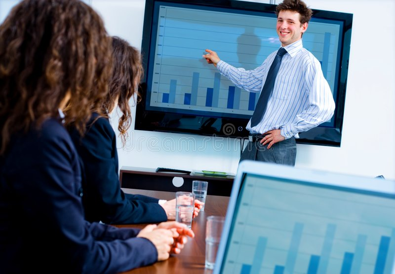 Download Business presentation stock photo. Image of confident - 7892884