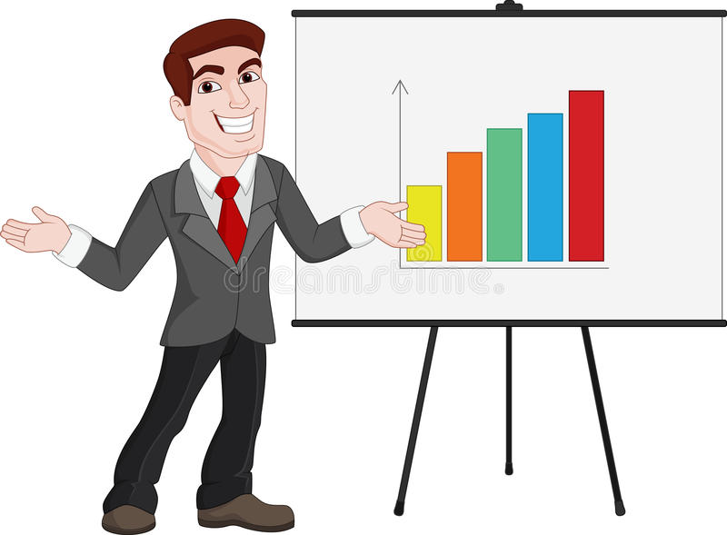 business presentation businessman shows statistics on board stock rh dreamstime com free clipart for business presentations