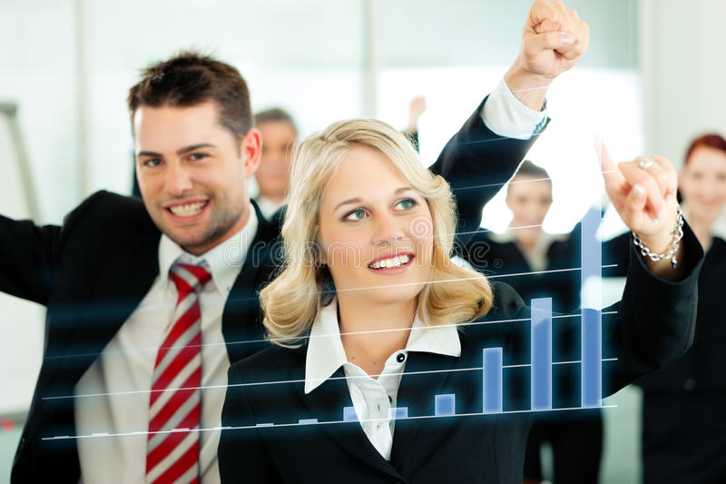 Download Business - Presentation Of Chart In Team Stock Photo - Image of businesswoman, businessman: 19324082