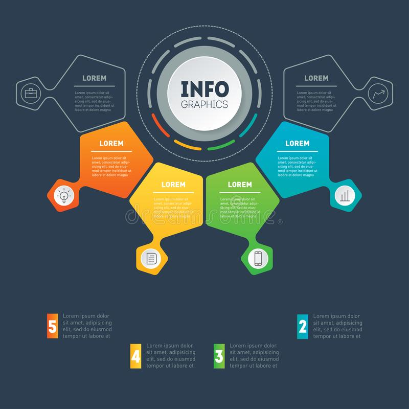 Business presentation concept with 4 options. Vector infographic of technology or education process with 4 steps. Web Template. Of a sales pipeline, purchase royalty free illustration