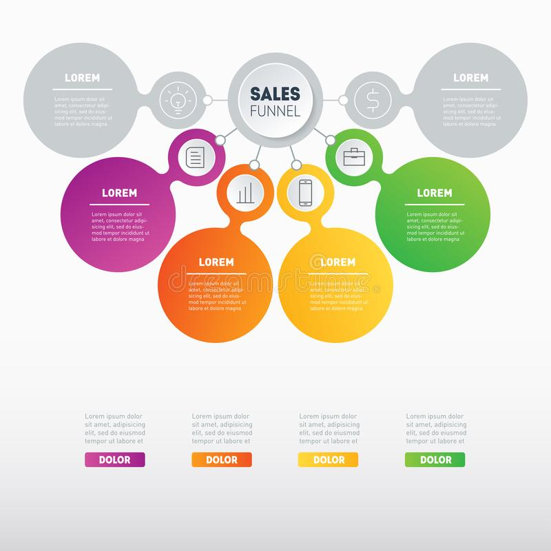 Business Presentation Concept With 4 Options Web Template Of A