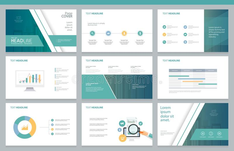 business presentation design template and page layout for brochure, Powerpoint templates