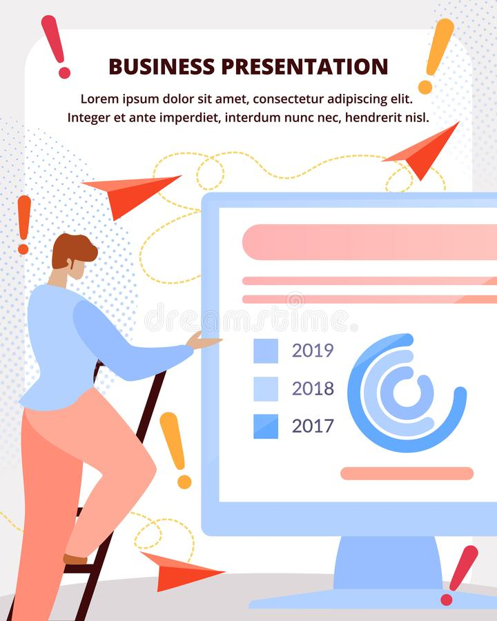 Business presentation flat vector banner template stock illustration