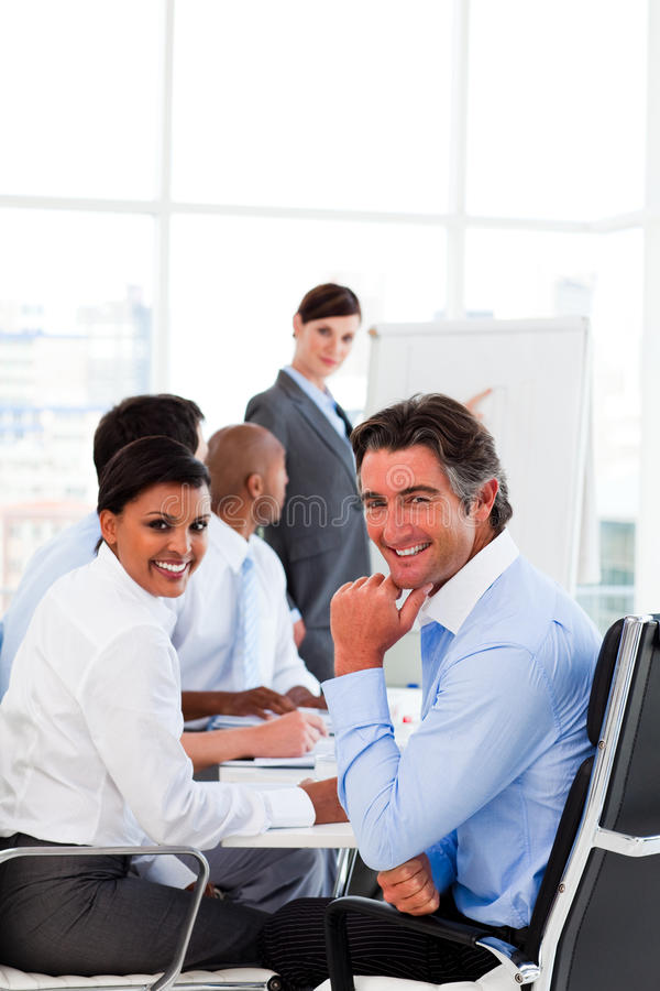 Download Business Presentation At A Meeting Stock Image - Image: 12024793