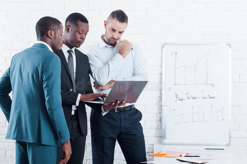 Business presentation in office company preparing royalty free stock image