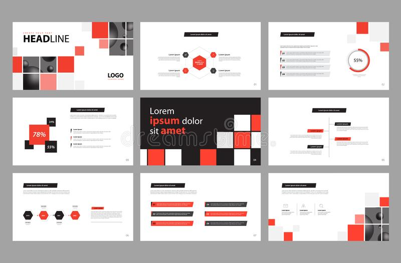 Business presentation page layout template design and use for brochure ,book , magazine, annual report and company profile royalty free illustration