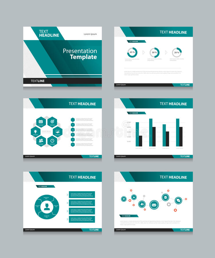 Business presentation and powerpoint template slides background design stock illustration