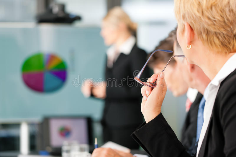 Business - presentation within a team stock images