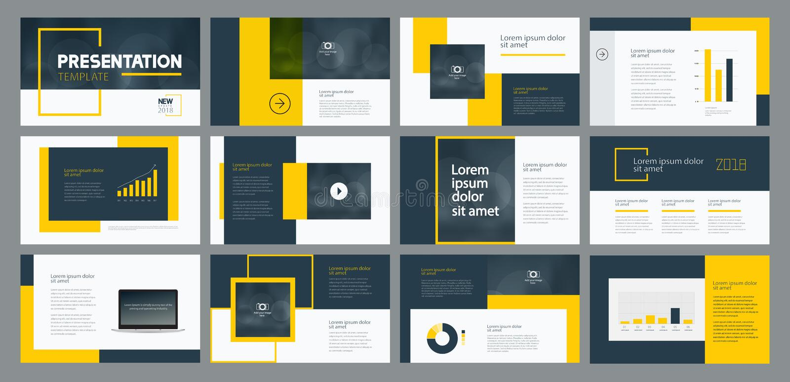 Business presentation template design and page layout design for brochure ,annual report and company profile vector illustration