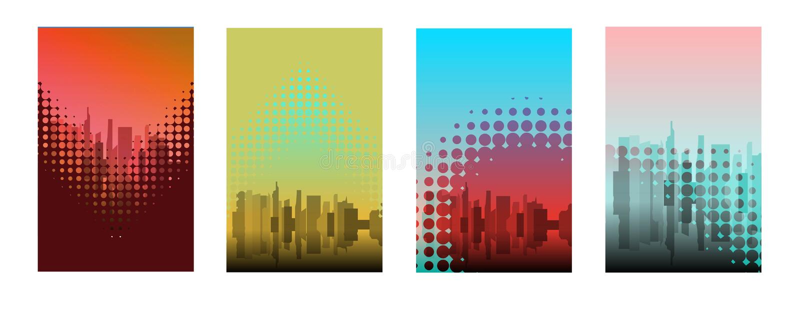 Business presentation templates set. Use for keynote presentation background, powerpoint template design, website slider, brochure. Cover design, landing page vector illustration