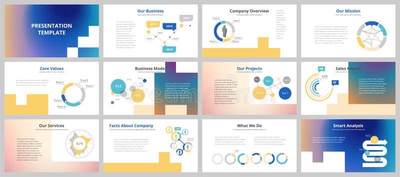 Business presentation templates vector illustration