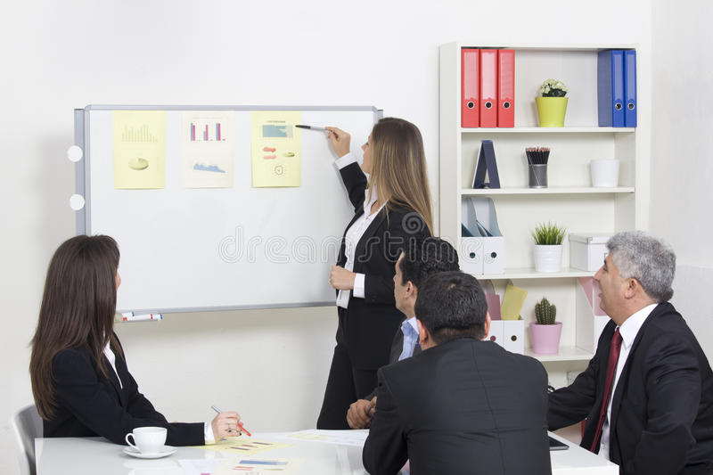 business presentation to a group stock photos