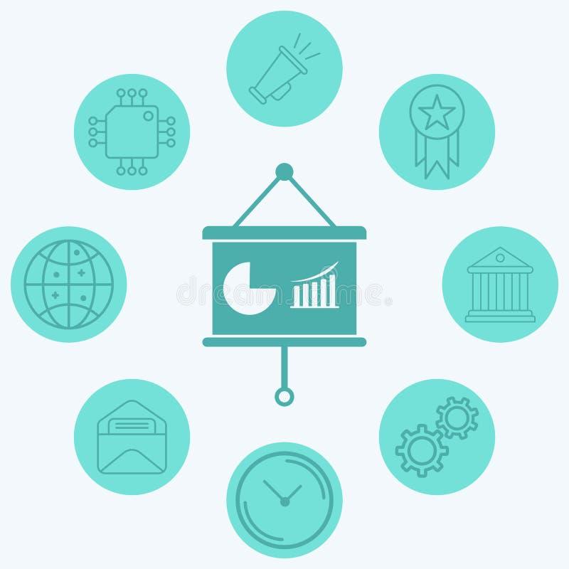 Business presentation vector icon sign symbol vector illustration