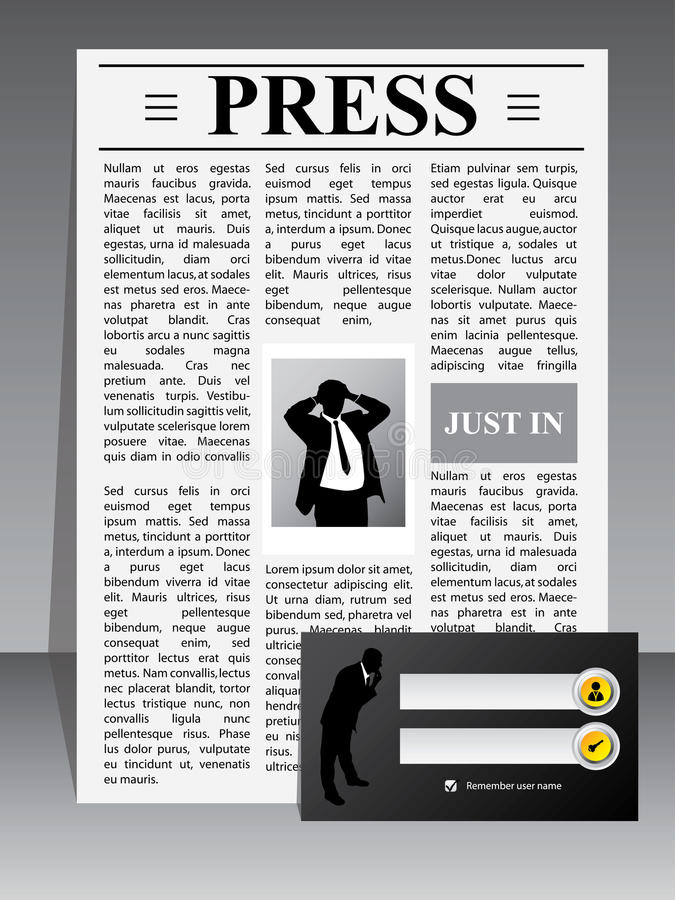 Business Press Website Template Stock Photos