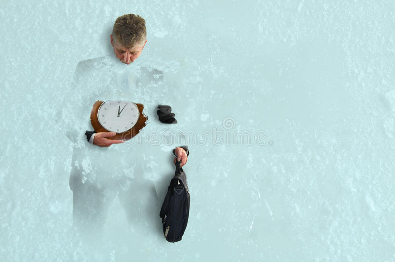 Business Pressure Frozen in Time Freezes Over Success stock photography