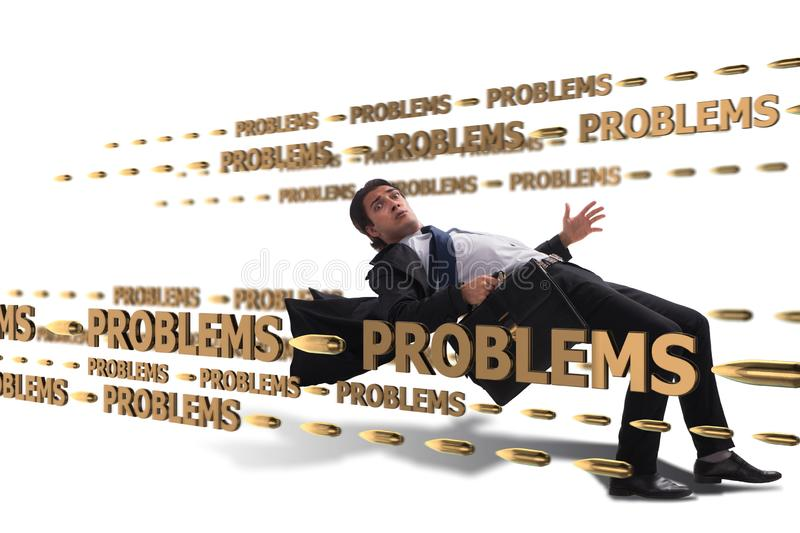 The business problem and challenge concept with businessman royalty free stock photography