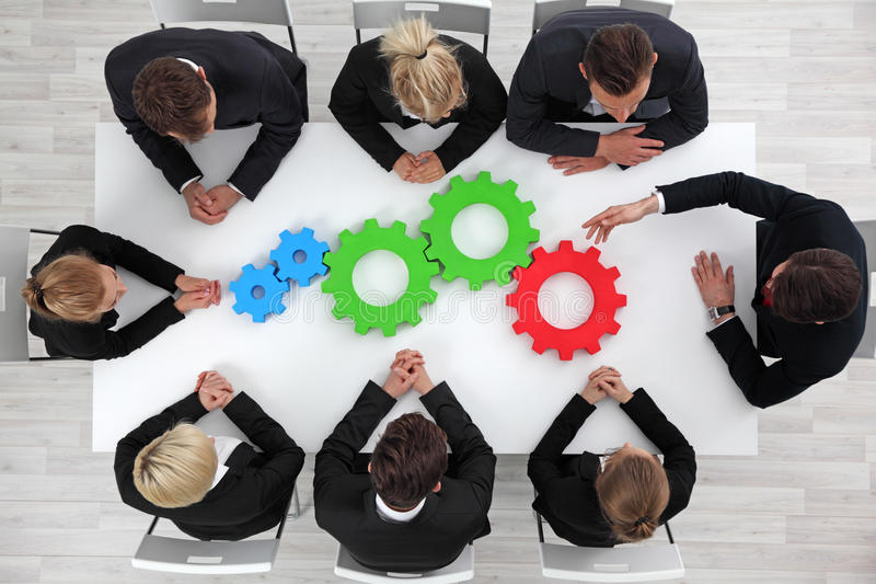 Business problem solution concept stock photos