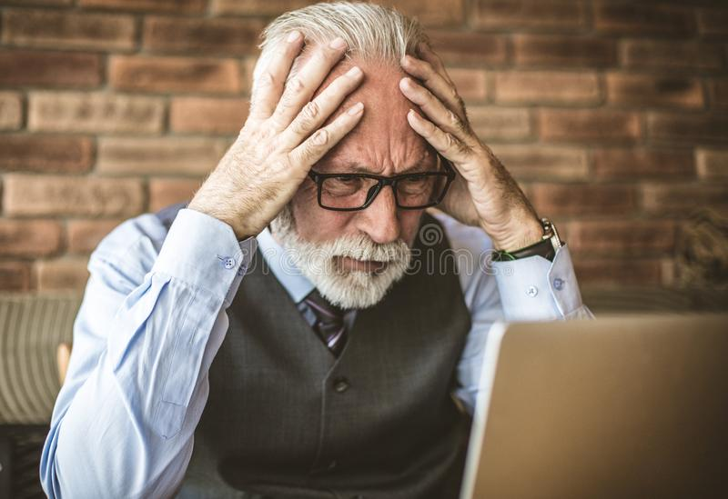 Business problems create headaches. stock photography