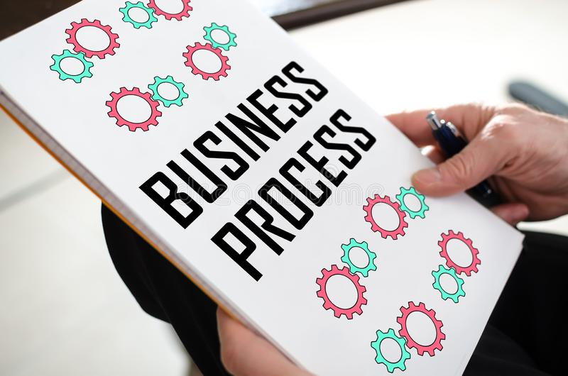 Business process concept on a paper royalty free stock images