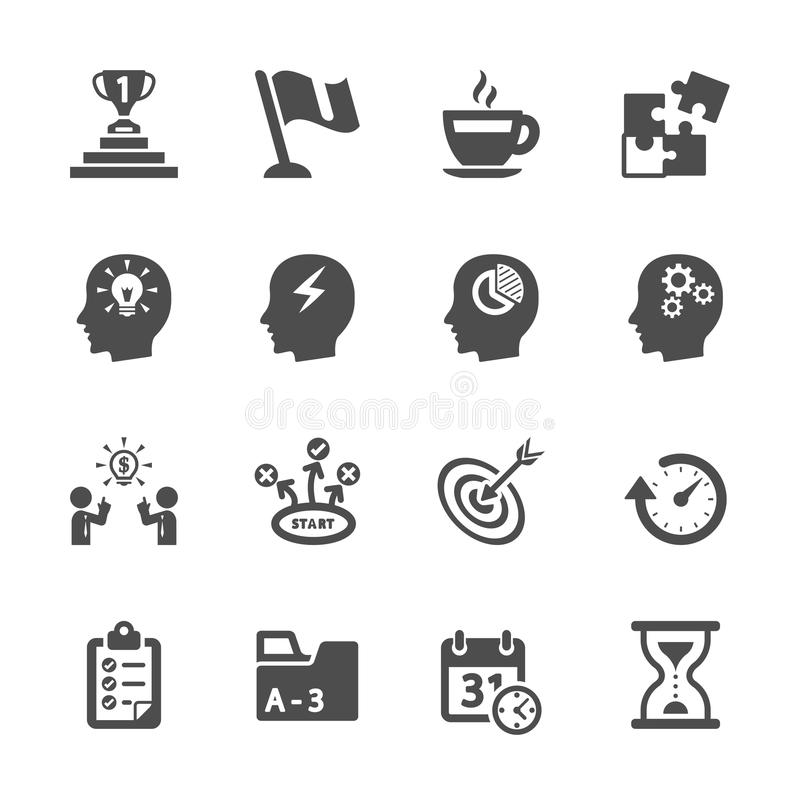 Business productivity icon set, vector eps10 royalty free illustration