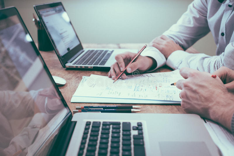 Business Professionals With Papers And Computers Free Public Domain Cc0 Image