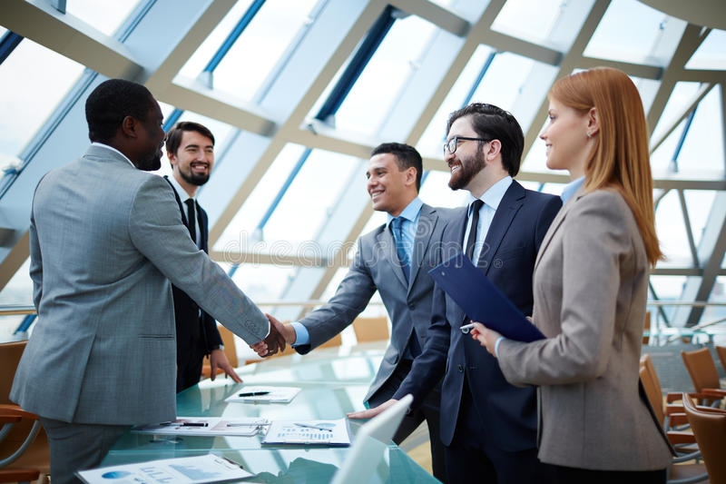 Download Business Professionals Shaking Hands Stock Photo - Image of worker, shaking: 95740128