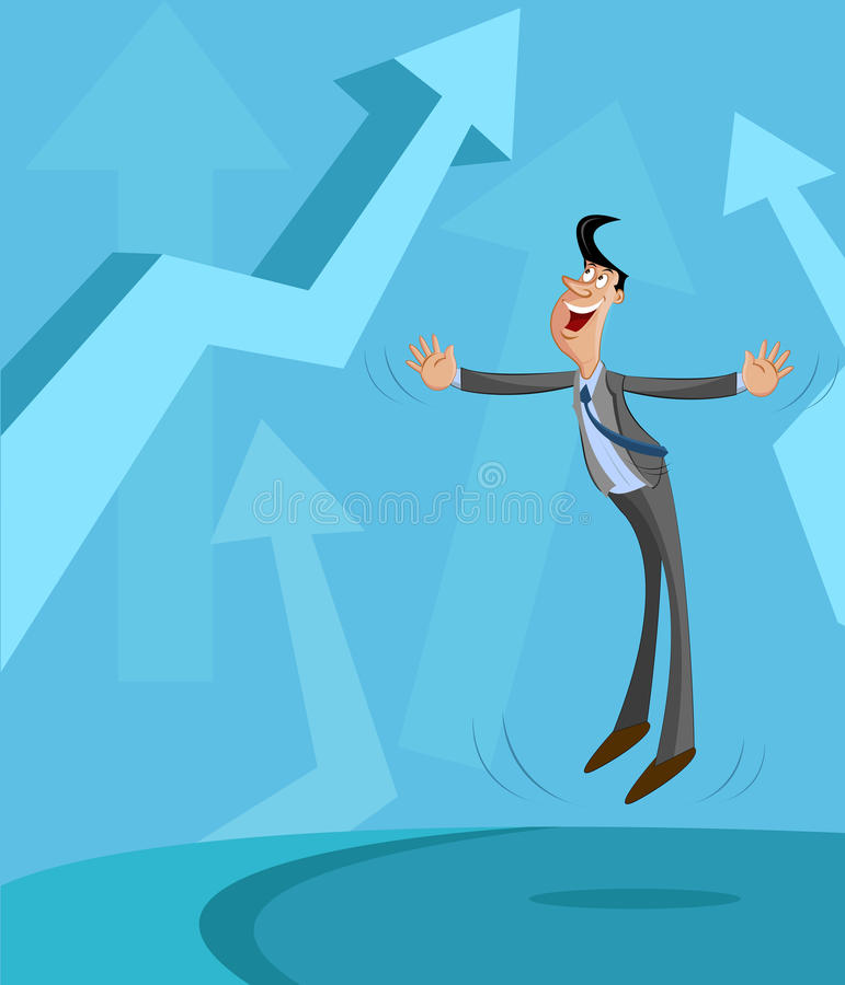 Business Profit Concept royalty free illustration