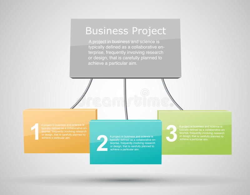 Business Project Background vector illustration
