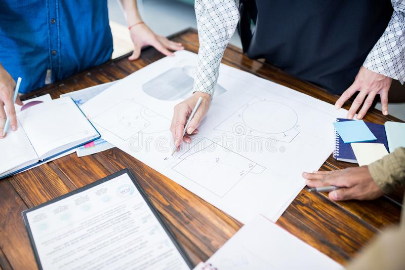Business project at office stock photography