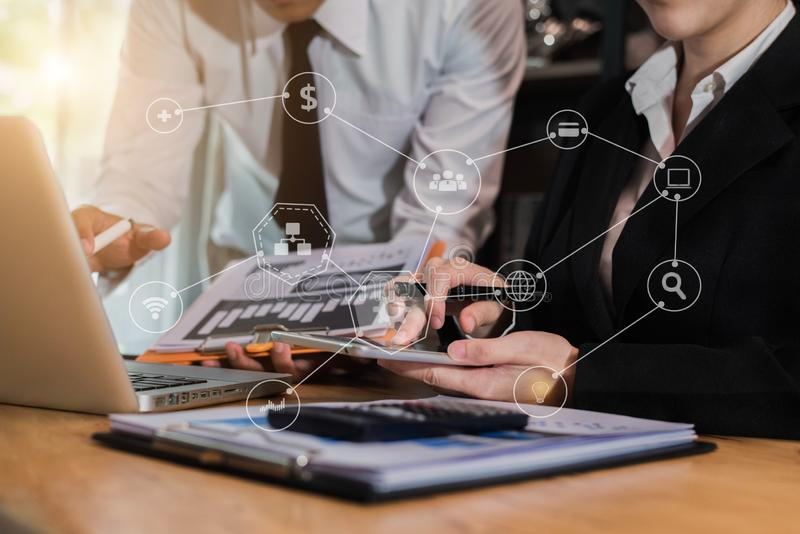 Business project team working together at meeting room at office. royalty free stock images