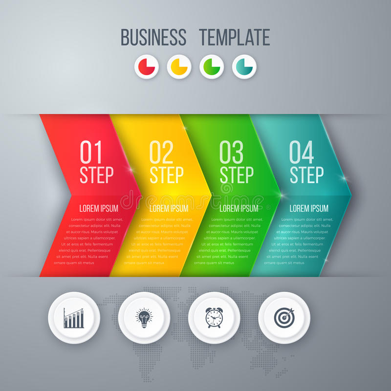 Business project template with arrows vector illustration