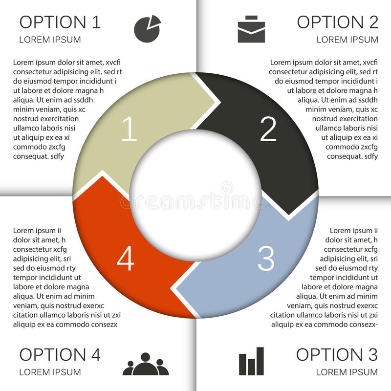 Business project template with text areas vector illustration