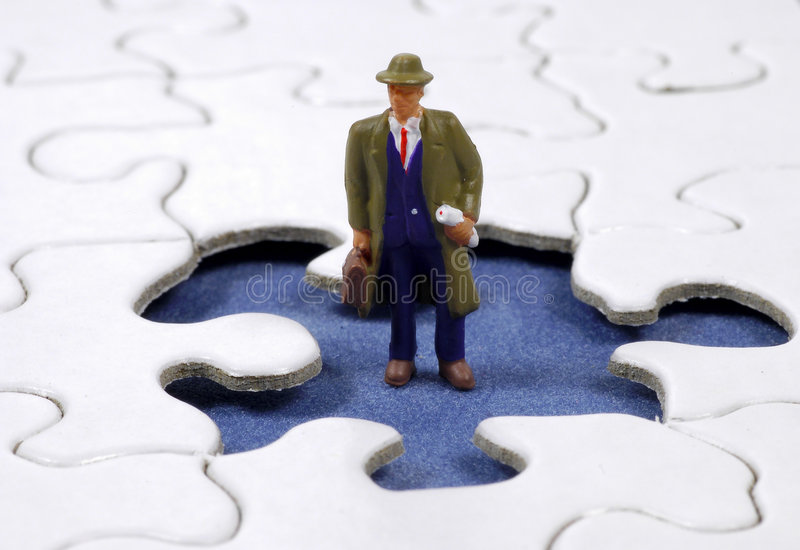 Business Puzzle 2 royalty free stock image