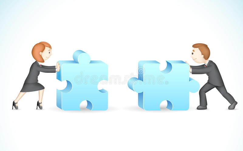 Download Business Puzzle stock vector. Illustration of businesspeople - 25994271