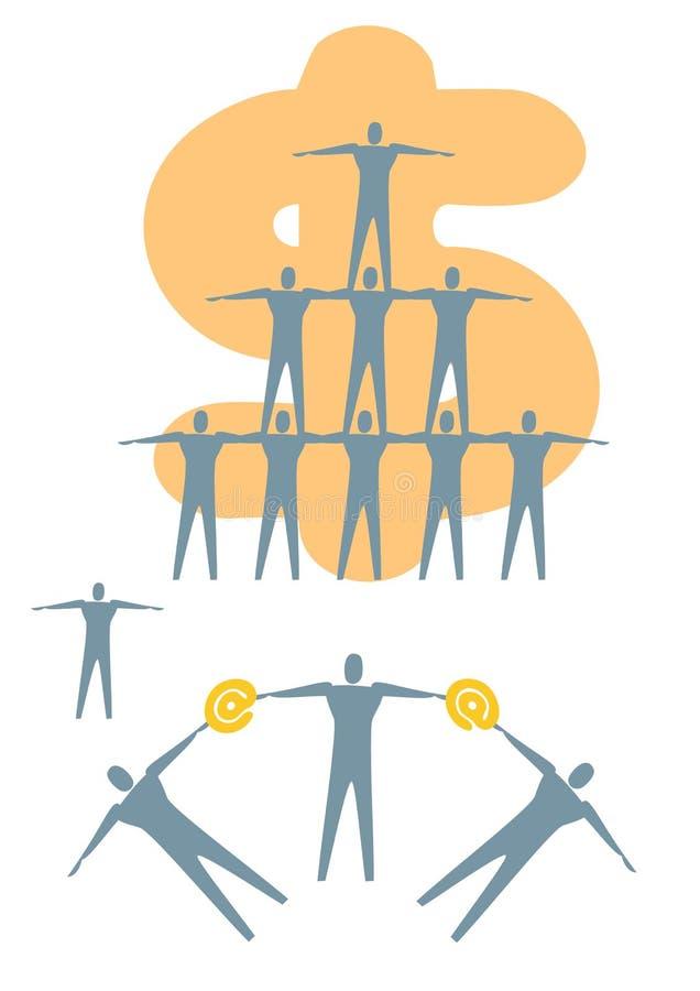 Business - pyramid stock illustration