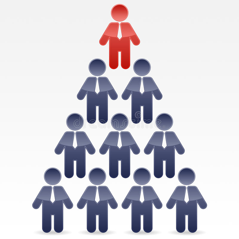 Business Pyramid. A design illustrating the structure of most business and corporations vector illustration