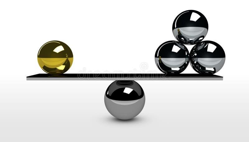 Business Quality Versus Quantity Balance Concept vector illustration