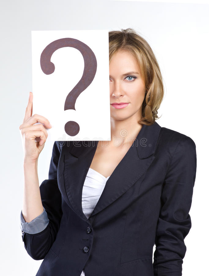 Download Business question stock photo. Image of white, blank - 26537900
