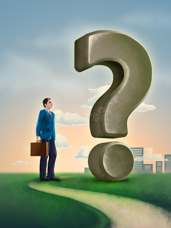 Business question stock illustration